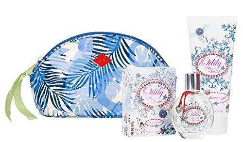 Oilily Blue Sparkle 3-er Set: EDT 50ml + Bad & Shower Gel 200ml + Kosmetiktasche