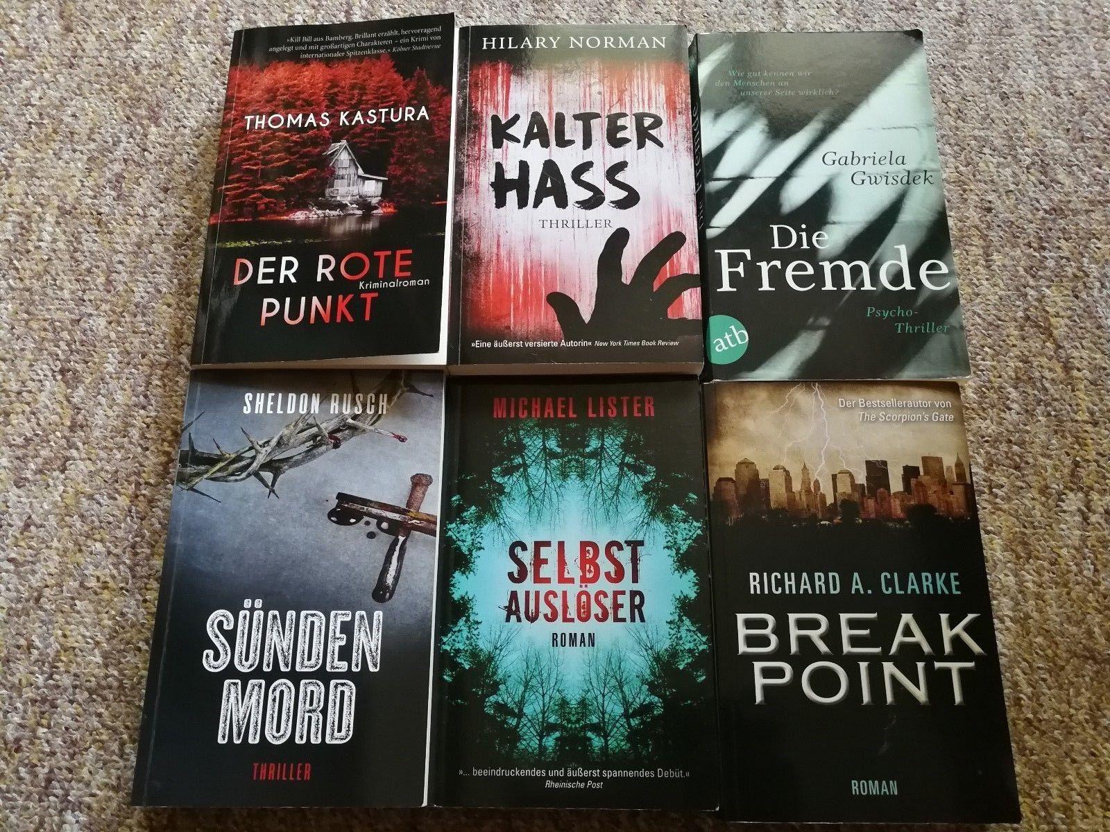 6 Bücherpaket Büchersammlung Thriller Krimi spannend fesselnd Roman Taschenbuch