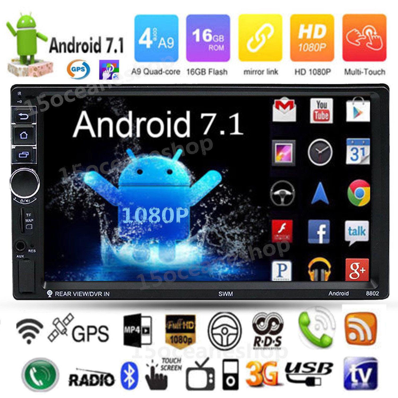 Quad Core Android Auto Radio 7.1 3G WIFI 7