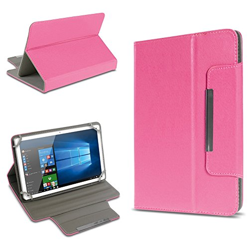 UC-Express Universal Tablet Tasche Schutz Hülle 10-10.1 Zoll Tablet Schutzhülle Tab Case Cover Farbauswahl Standfunktion, Farben:Pink, Tablet Modell für:Acer Iconia One 10 B3-A10