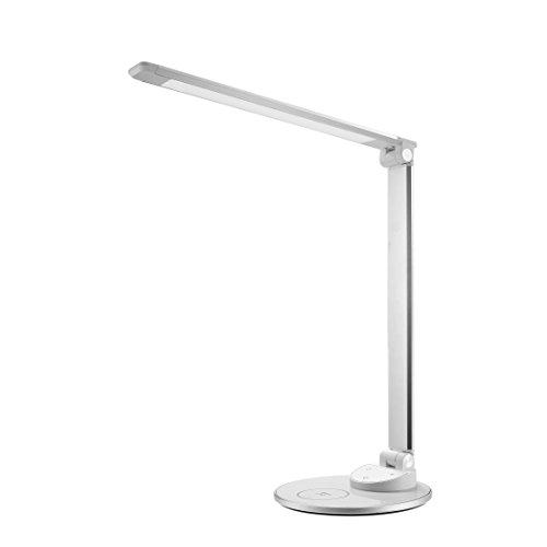 LED Schreibtischlampe mit kabelloser Ladestation TaoTronics HyperAir-Technologie 7.5W Schnellladegerät für iPhone X / 8/8 Plus, 10W Schnellladepad für Galaxy S8 / S7 / Note 8 & alle Qi-fähigen Geräte
