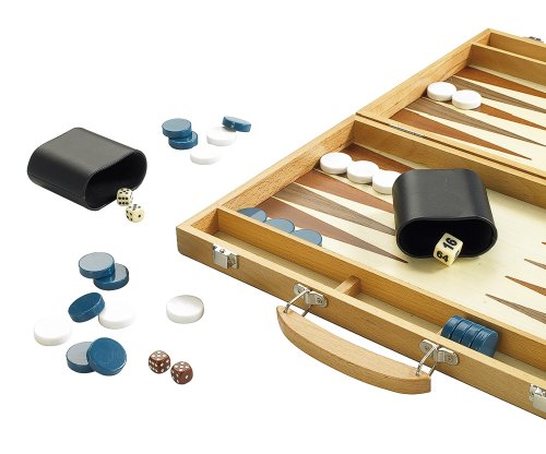 Gibson Games BACKGAMMON SPIEL - HOLZ - GROß & DELUXE