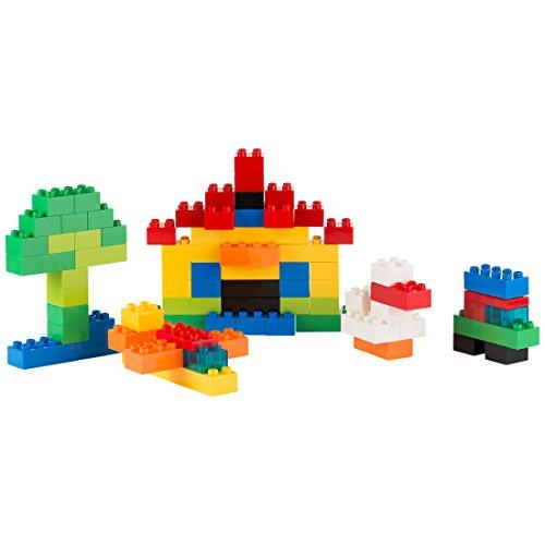 Ultrakidz 331900000098 Grundbausteine Set, 80 XXL-Bausteine für Kleinkinder, in Klassischen Größen und Farben –Große Konstruktionsbausteine, Passend für Lego Duplo und Passgenau zusammensteckbar