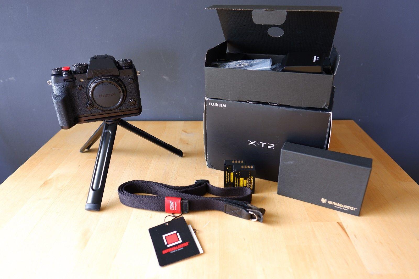 Fujifilm X-T2 Systemkamera schwarz (Body + Zubehörpaket)