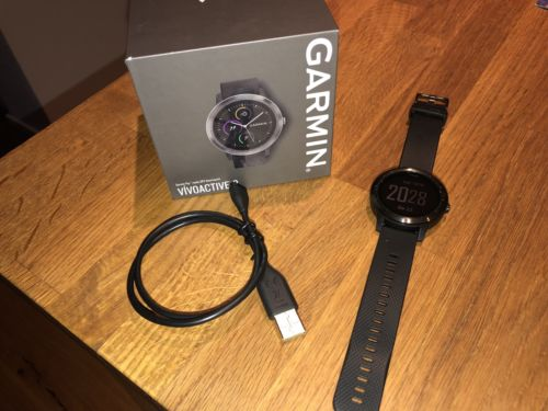 Garmin Vivoactive 3 schwarz GPS Sportuhr Smartwatch Neu - Schwarz (Gunmetal)