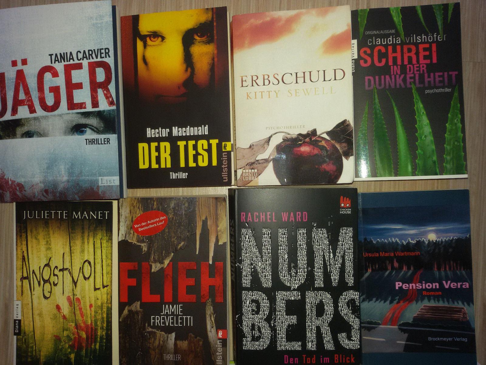 Thriller & Krimis - spannendes Bücherpaket - top!!!