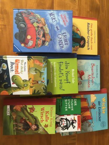 8 verschiedene Kinderbücher Räuber Grapsch Pausewang Kirsten Boje Michael Ende