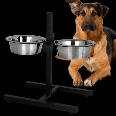 Napfständer Hundenapf Ständer Hundebar Fressnapf Futterbar Futternapf 2x1,8L NEU