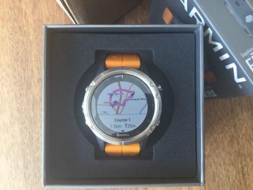 Garmin FENIX 5 PLUS - Neu & OVP - Smartwatch Orange Titanium Musik Sapphire