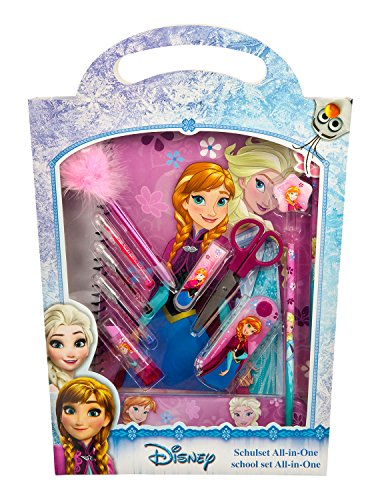 Undercover FRWD1140 - Schulset All-in-One Disney Frozen, 14-teilig, pink