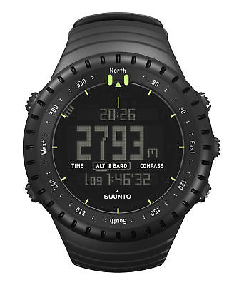 Multifunktionsuhr / Armbanduhr Core All black - Höhenmesser Kompass Barometer