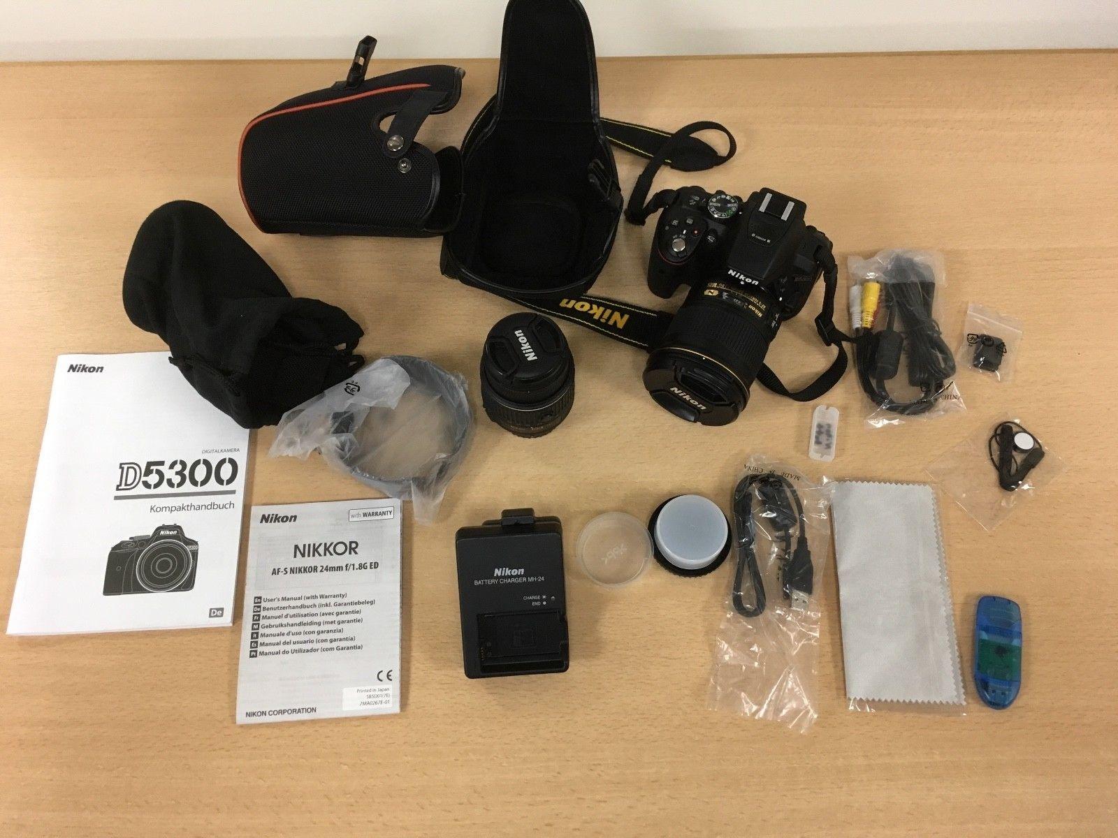 Nikon D5300 Kit AF-P DX VR 18-55 + AF-S NIKKOR 24mm 1:1.8G ED