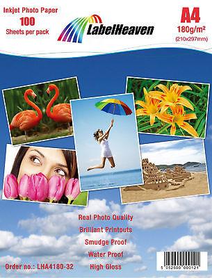 300 Blatt DIN A4 180g/m² Fotopapier HGlossy+wasserfest