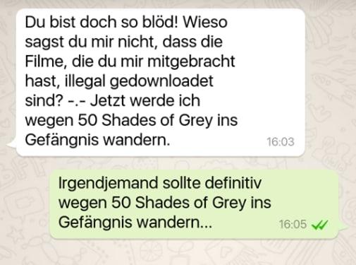 Lustig whatsapp chats ichbin40undlustig