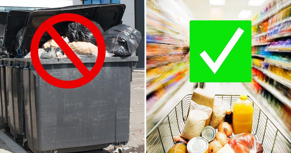 Supermarkt wirft abgelaufene Lebensmittel nicht weg, sondern verschenkt sie an Kunden