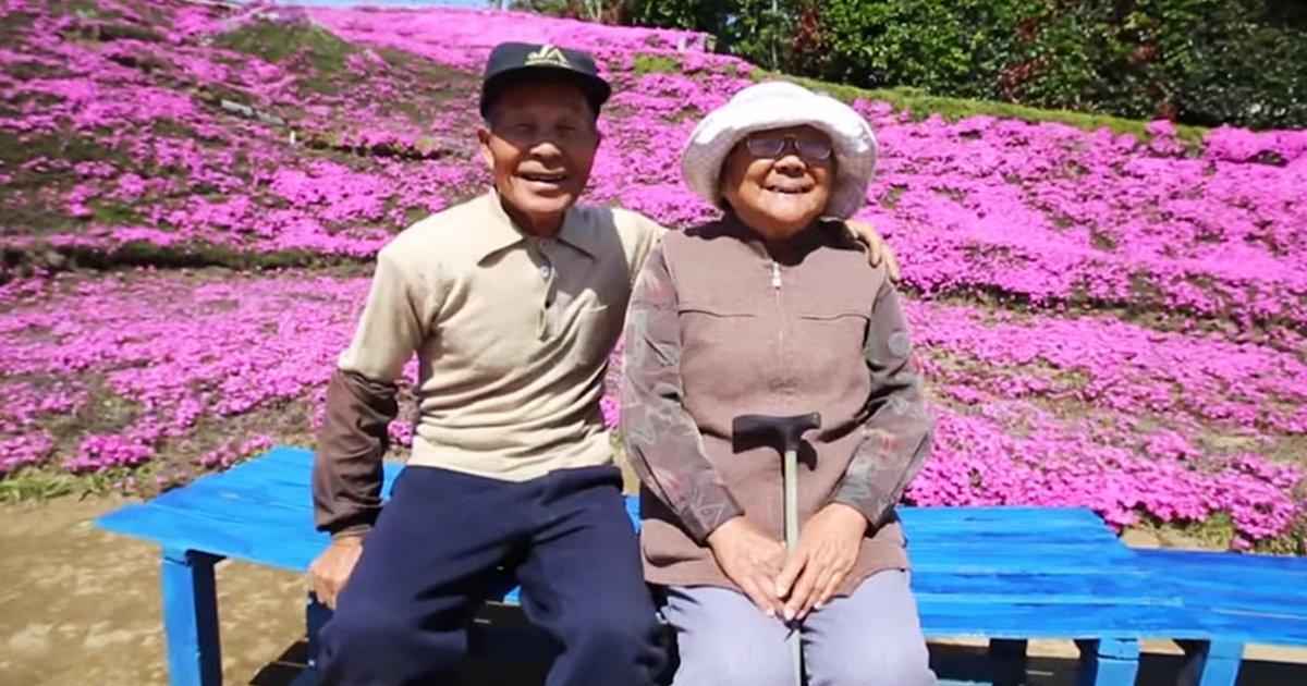 Mann pflanzt 2 Jahre lang tausende von Blumen für seine blinde Frau