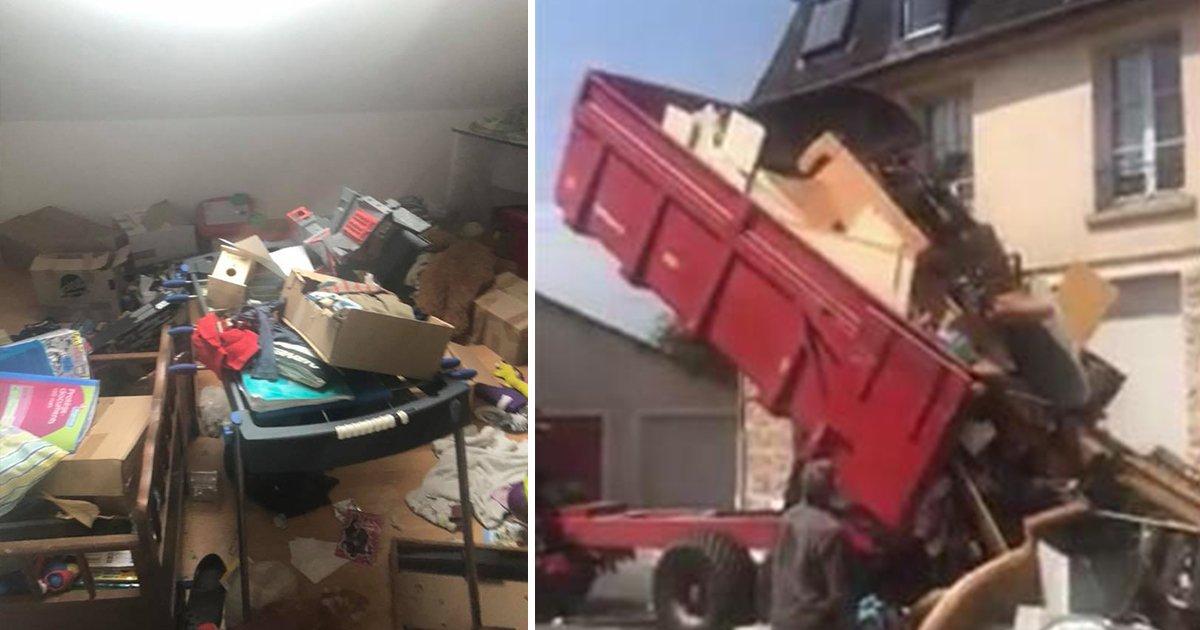 Mieter hinterlassen riesigen Saustall – ehemaliger Vermieter lädt alles vor ihrem neuen Zuhause ab